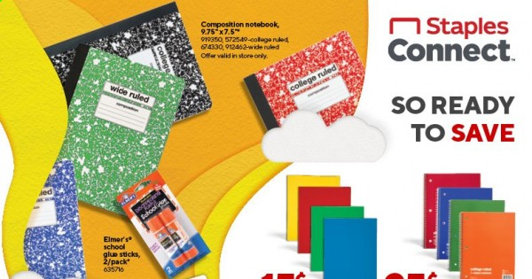 Staples Ad from august 1 to 7 2021