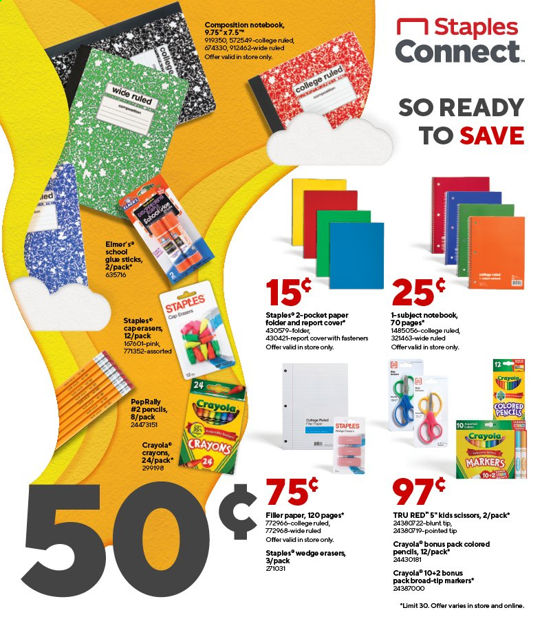 Staples Ad from august 1 to 7 2021 - Page 1