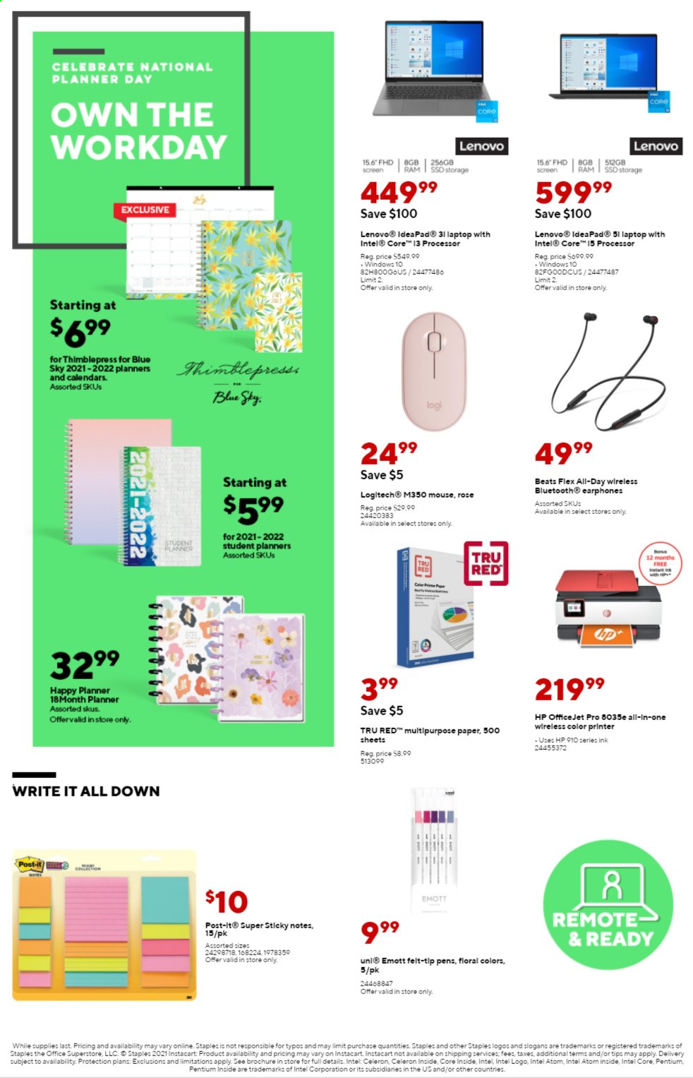 Staples Ad from august 1 to 7 2021 - Page 3