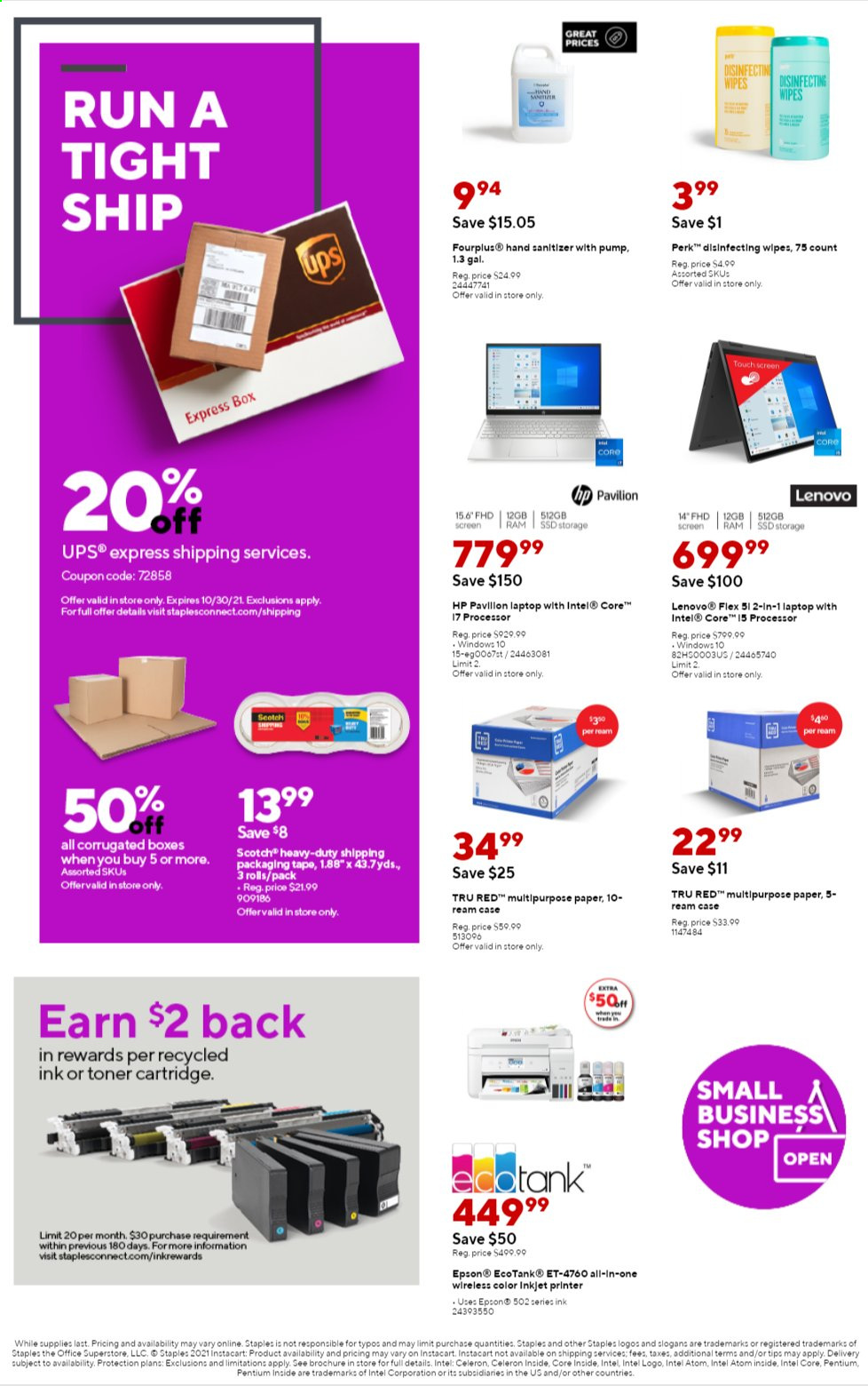 Staples Ad from august 1 to 7 2021 - Page 4