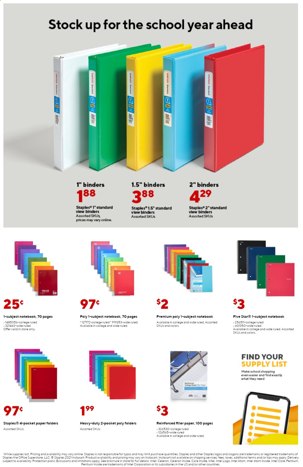 Staples Ad from august 1 to 7 2021 - Page 6