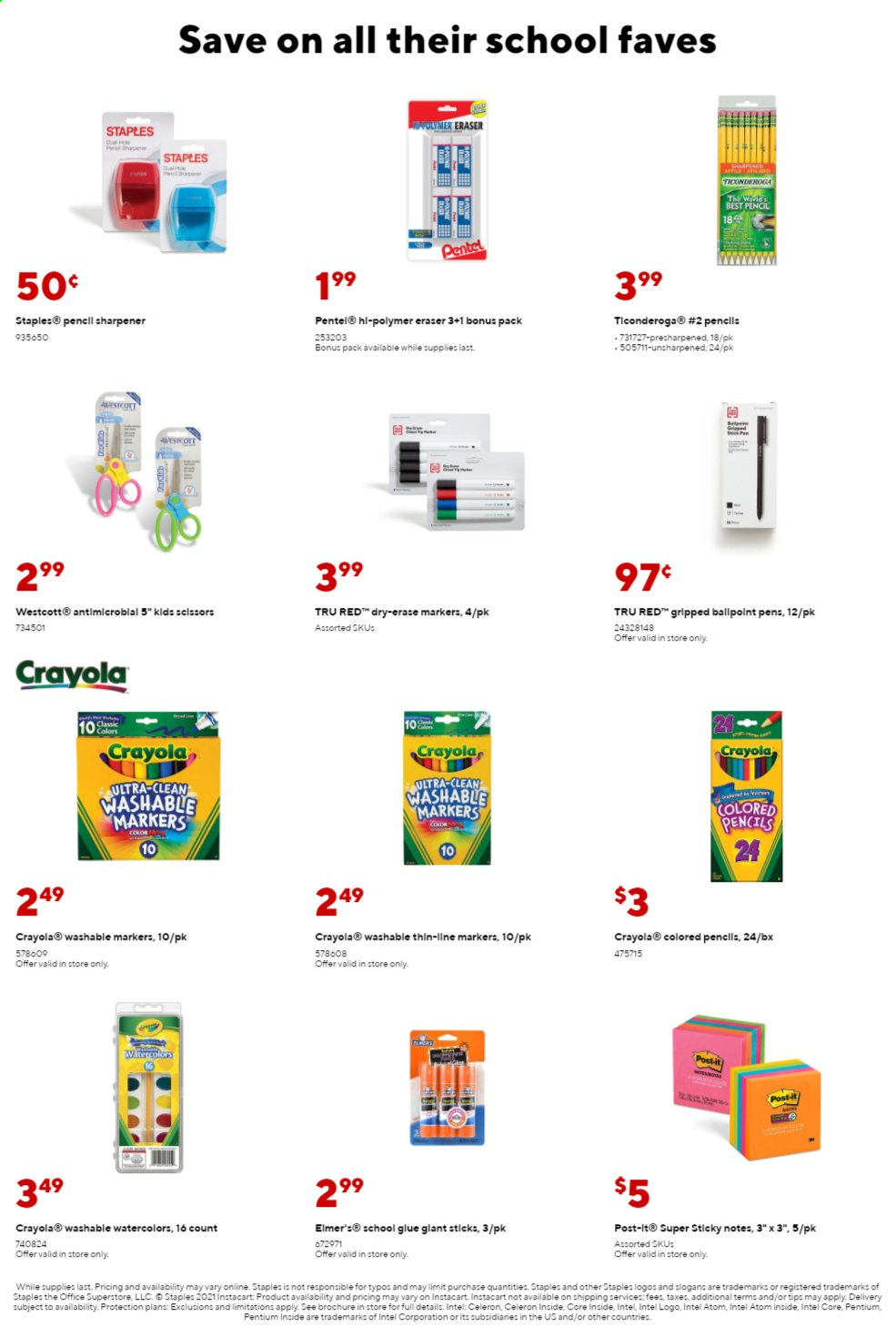 Staples Ad from august 1 to 7 2021 - Page 7