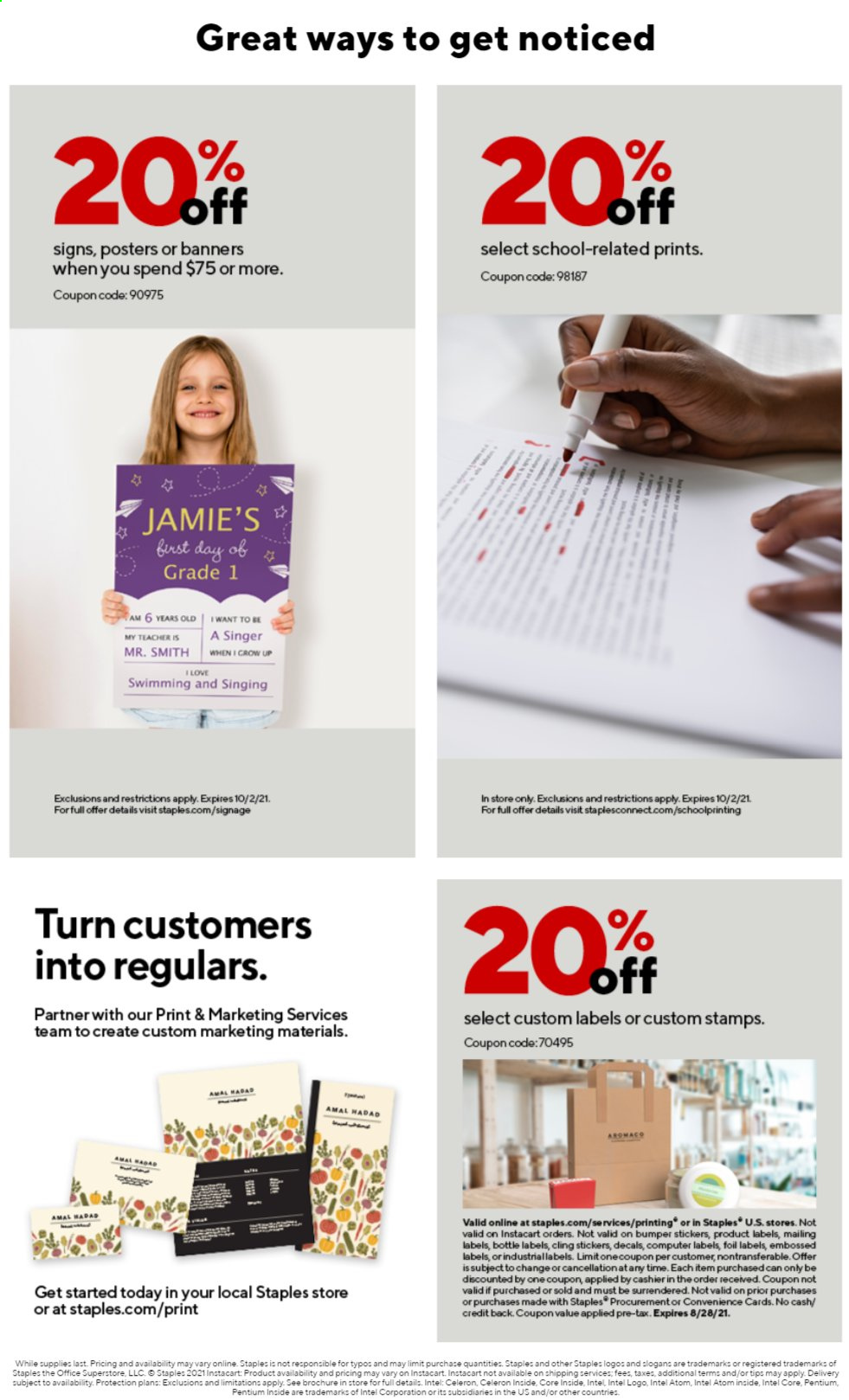 Staples Ad from august 1 to 7 2021 - Page 9