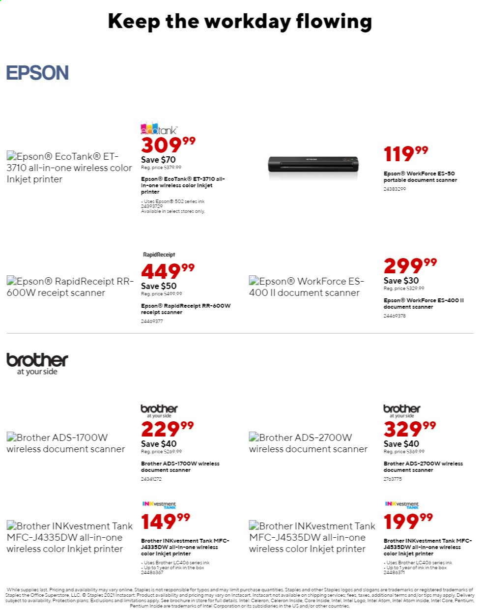 Staples Ad from august 1 to 7 2021 - Page 15
