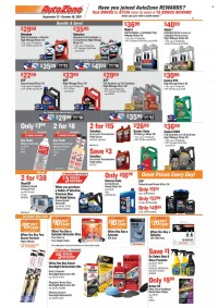 AutoZone Ad from september 21 to october 18 2021