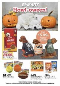 Bi-Mart Howl-oween Ad from october 6 to 19 2021