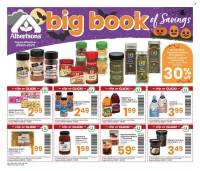 Albertsons Big Book of Savings from september 28 to november 1 2021