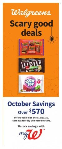 Walgreens October Savings from september 26 to october 23 2021