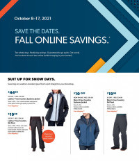 Sam's Club Ad Fall Online Savings from october 8 to 17 2021