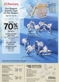 JCPenney Jewelry Ad from september 30 to october 24 2021