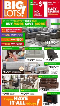 Big Lots Ad from october 7 to 16 2021