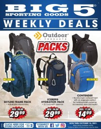 Big 5 Sporting Goods Ad from october 10 to 16 2021