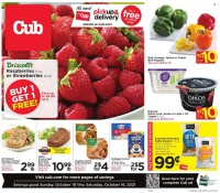 Cub Foods Ad from october 9 to 16 2021