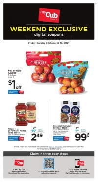 Cub Foods Digital Coupons from october 9 to 16 2021
