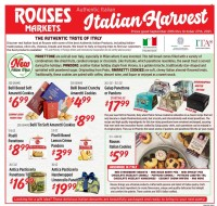 Rouses Markets Italian Harvest Ad from september 29 to october 27 2021