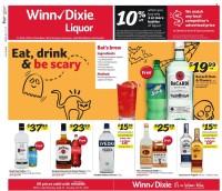 Winn-Dixie Liquor Ad from september 27 to october 31 2021