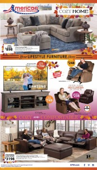 American Furniture Warehouse Ad from october 10 to 16 2021