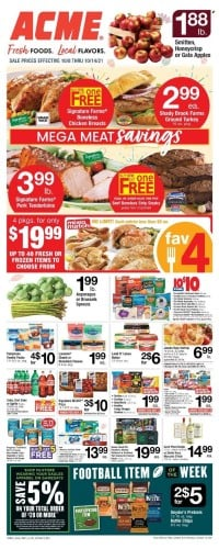 ACME Markets Ad from october 13 to 20 2021