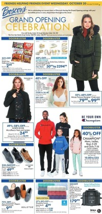 Boscov's Ad from october 13 to 20 2021