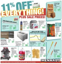 Menards Ad from october 10 to 17 2021