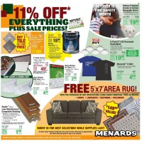 Menards Ad from october 9 to 16 2021