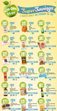 Natural Grocers Super Savings from october 14 to 16 2021