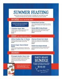 ShopRite Summer Feasting Menu 2021