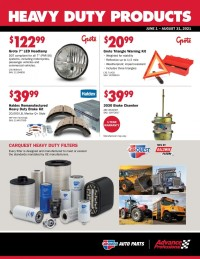 Carquest Auto Parts Ad from june 1 to august 31 2021