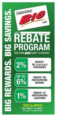 Menards 2021 Rebate Program