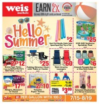 Weis Markets Ad from july 15 to august 19 2021