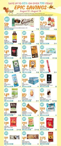 Natural Grocers Ad from august 12 to 14 2021