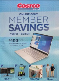 Costco Ad from july 29 to august 23 2021