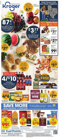 Kroger Ad from july 28 to august 3 2021