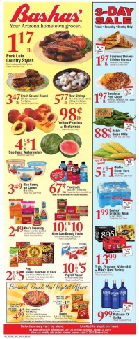Bashas Ad from july 28 to august 3 2021