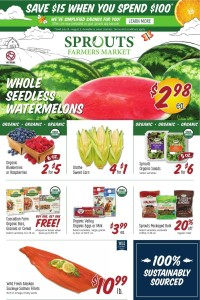 Sprouts Farmers Market Ad from july 28 to august 3 2021
