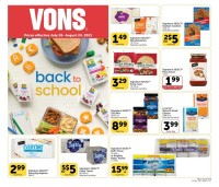 Vons Ad from july 28 to august 24 2021