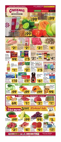 Cardenas Markets Ad from july 28 to august 3 2021