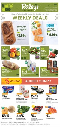 Raley's ONE Market Ad from july 28 to august 3 2021