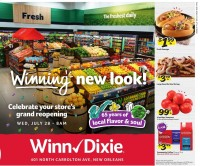 Winn-Dixie North Carrolton, New Orleans, Reopening Ad from july 28 to august 3 2021