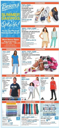 Boscov's Ad from july 29 to august 4 2021
